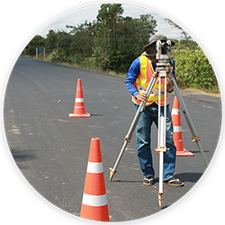 man performing a route survey